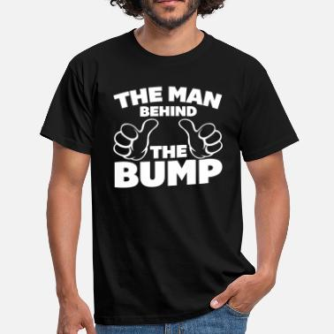 Funny Pregnancy The Man Behind The Bump - Men's T-Shirt