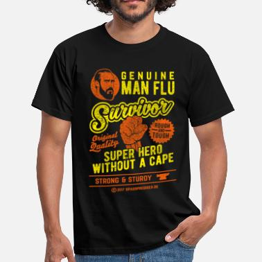 Survivor Man flu survivor, distressed - Männer T-Shirt