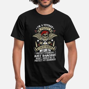 Best Selling I'm A Veteran Poppy T Shirt - Men's T-Shirt