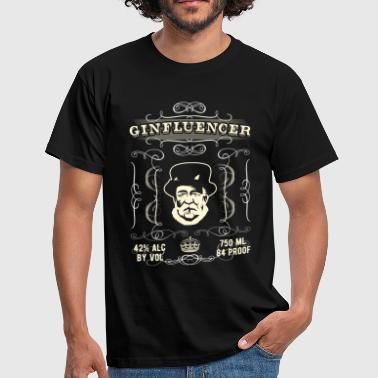 Gin Shirt Ginfluencer Label - Männer T-Shirt