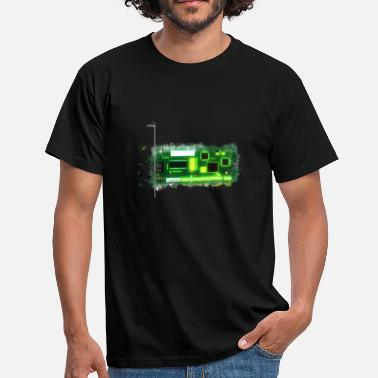 Circuit Board PCB card glowing bright - Men's T-Shirt