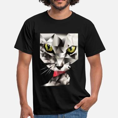 Polygon Cat - Men's T-Shirt