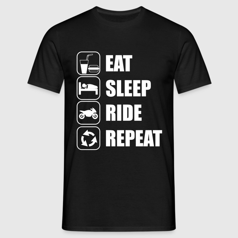 Eat,sleep,ride,repeat Motor - Koszulka męska