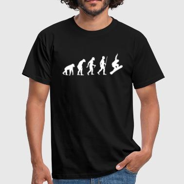 Snowboarder Evolution - Männer T-Shirt