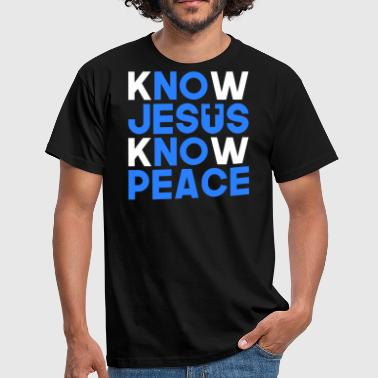 Know Jesus know peace Christian gift - Men's T-Shirt