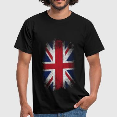 Eroded UK Flag - Men's T-Shirt