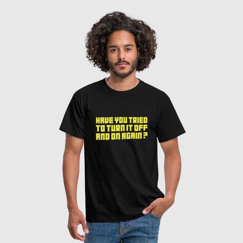 Turn it off and on again - Herre-T-shirt