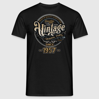 Day One Vintage since 1957 - Original Parts RAHMENLOS Birthday - Männer T-Shirt