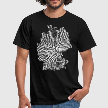 Germany fingerprint  T-Shirts - Men's T-Shirt
