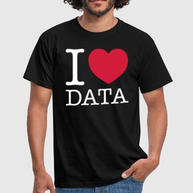 Data I Love Data - Engineer - Men's T-Shirt