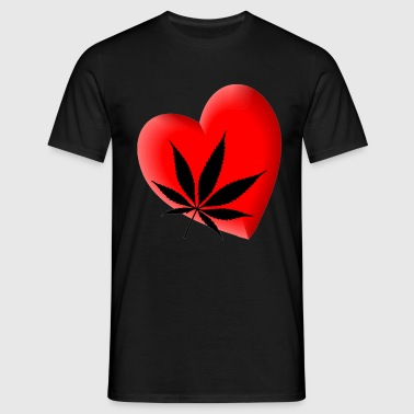 I Love Hemp T-shirt - Mannen T-shirt