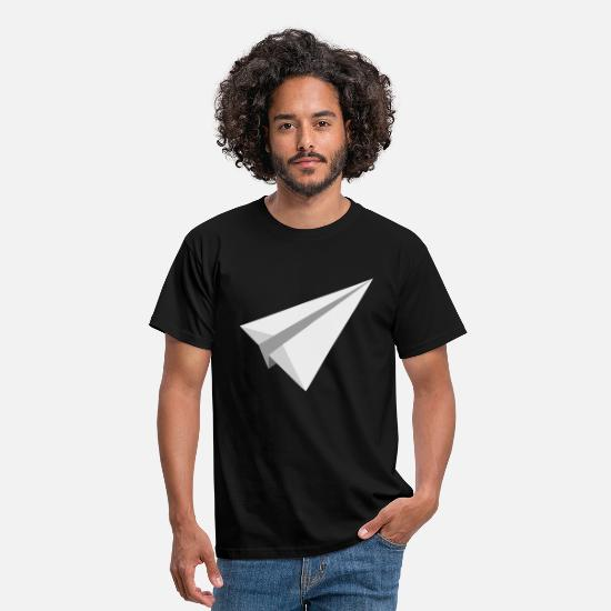 Airplane T-Shirts - Paper plane airplane toy throwing gift - Men's T-Shirt black