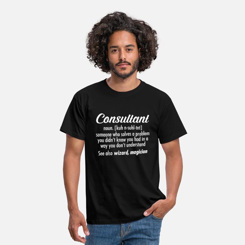 Consultant T-Shirts - Consultant - Definition - Men's T-Shirt black