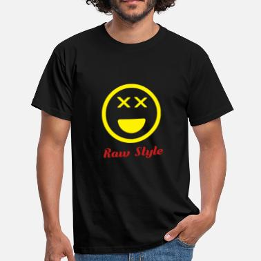 Style Raw Style Music Logo Smiley - Gift - Men's T-Shirt