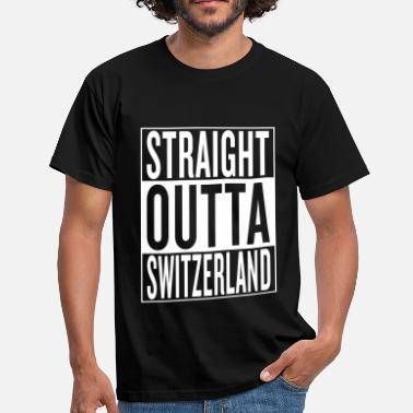 Straight Outta Switzerland - Männer T-Shirt