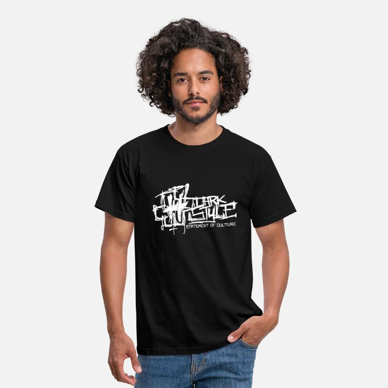 Festival T-Shirts - Dark Style - Statement Of Culture (white) - Männer T-Shirt Schwarz