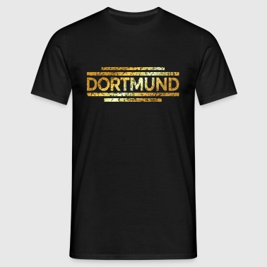 Dortmund Distressed Gold - Männer T-Shirt