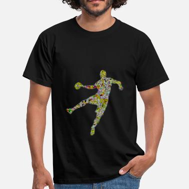 Bright Colors bright and colorful handball player - Men's T-Shirt