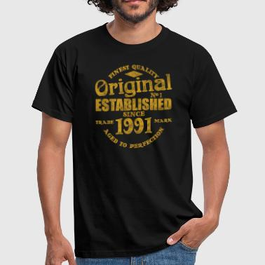 1991 vintage birthday - Men's T-Shirt