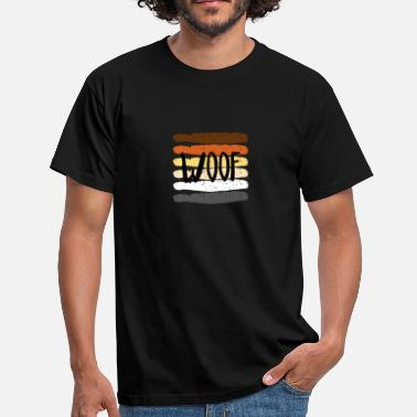 Gay Hairy Gay Flag Bear Gay Woof - Men's T-Shirt