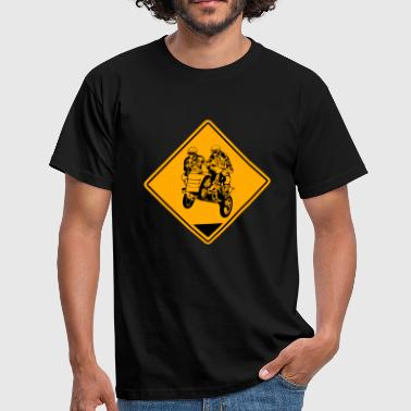 Sidecar MotoCross Road Sign - Camiseta hombre