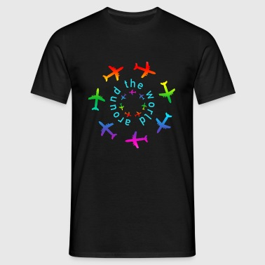 around the world color - Männer T-Shirt