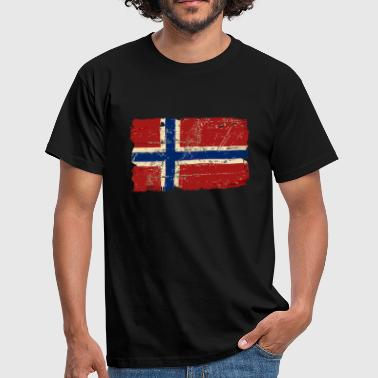 Norway Flag - Vintage Look  - Men's T-Shirt
