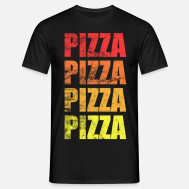 Pizza T Shirt Designs | Fastfood Pizza Design In Coolem Used Look Manner Premium T Shirt