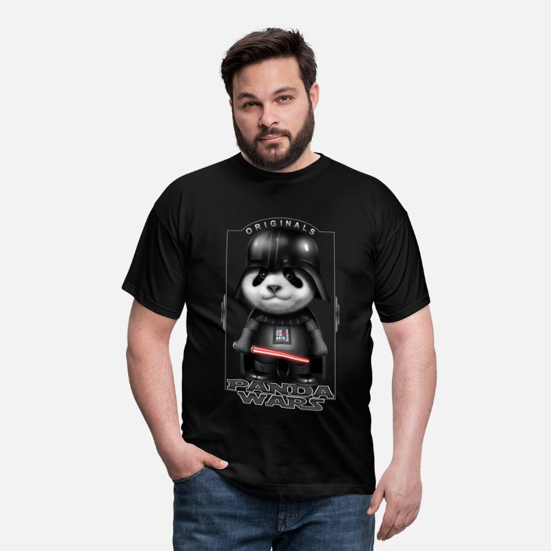 Panda T-Shirts - PANDA WARS - Men's T-Shirt black