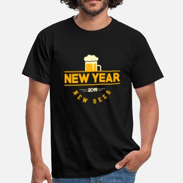 New Years Day New year 2019, new beer. gift - Men's T-Shirt