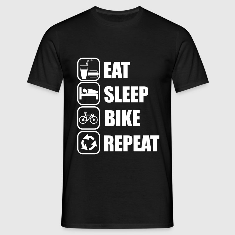 eat,sleep,bike,repeat Cycling - Maglietta da uomo