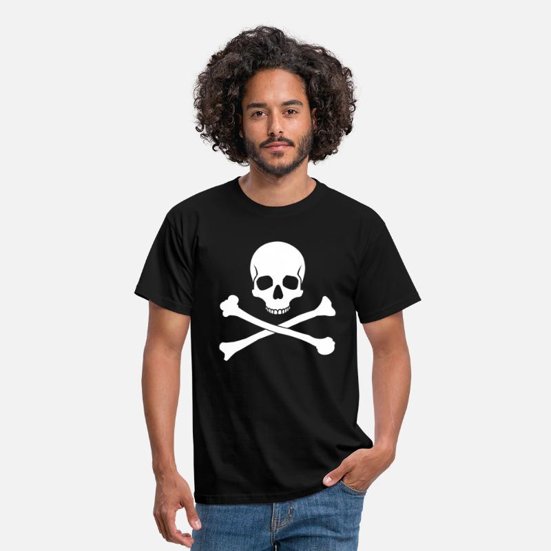 Skull And Crossbones T-Shirts - Skull Crossbones - Men's T-Shirt black