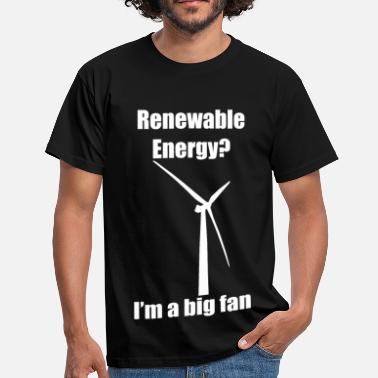 Wind Renewable Energy (White) - Men's T-Shirt