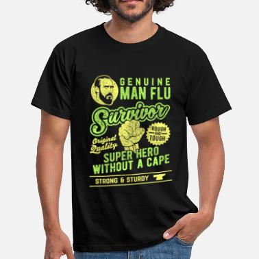 Call Man Flu Survivor - T-skjorte for menn