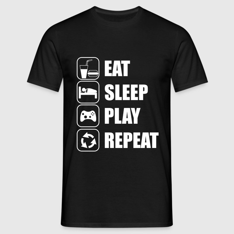 Eat Sleep Play Repeat - Camiseta hombre