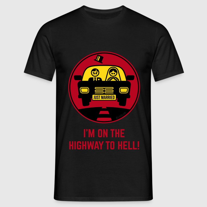 Just Married – I'm On The Highway To Hell! (3C) - Männer T-Shirt