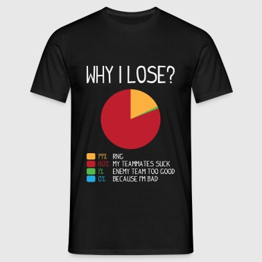 gamer shirt: this is why i lose - Männer T-Shirt