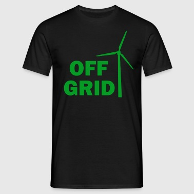 Off Grid in Green - Men's T-Shirt