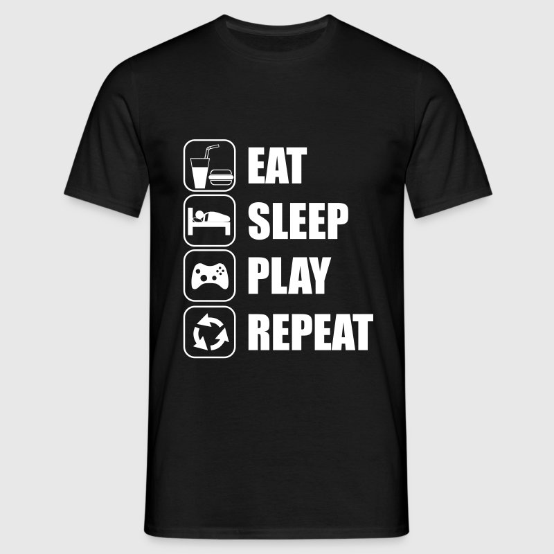 Eat Sleep Play Repeat - T-shirt Homme