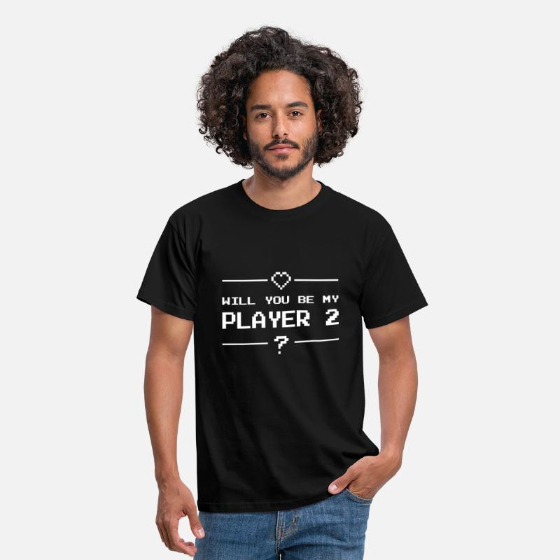 Computer T-Shirts - Will you be my player 2 - Men's T-Shirt black