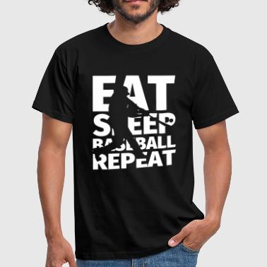 Bola Béisbol Eat Sleep BASEBALL Repeat - Camiseta hombre
