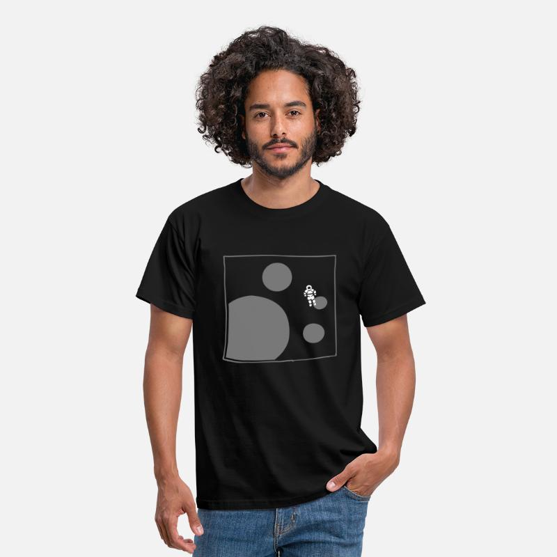 Spaceman T-Shirts - astronaut planets space spaceman - Men's T-Shirt black