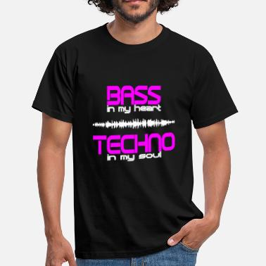 Techno Bass Techno Bass Rave Electro musique - T-shirt Homme