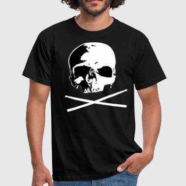 skull and sticks - Männer T-Shirt