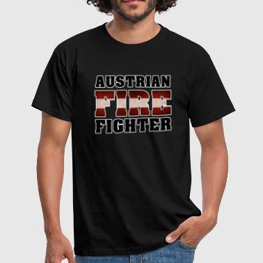 Blaulicht Austrian Fire Fighter - Männer T-Shirt