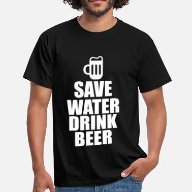 Save Water Alcohol Fun Shirt - Save water drink beer - Camiseta hombre