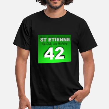 42 saint_etienne_un_club - T-shirt Homme