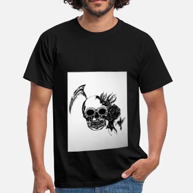 Black Ink Skull / Skull in black ink - Men's T-Shirt