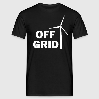 Off Grid in White - Men's T-Shirt