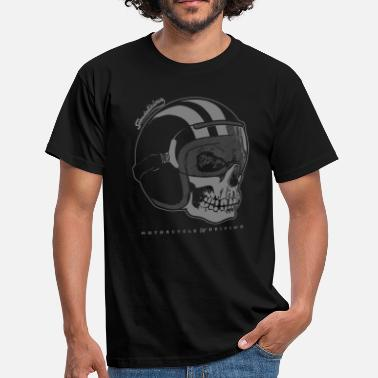 Bikes And Cars Collection helmet skull negative - Men's T-Shirt